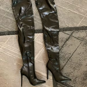 Over the knee high tall boots